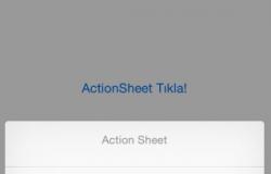 iOS UIActionSheet Kullanımı (Swift – ObjC)