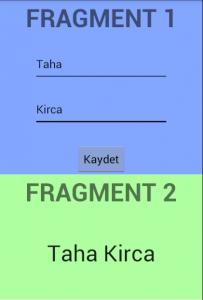 Fragment Data Alışverişi