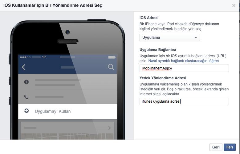 Facebook İos Uygulama Açtırma