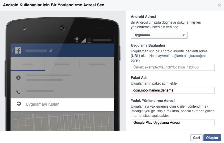 Facebook Uygulama Açma