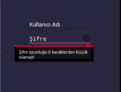 EditText Validation Error Gösterimi