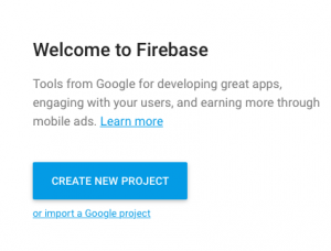 Firebase Create project