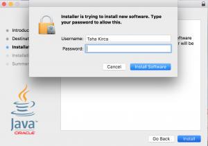 Mac OS X JDK kurulum