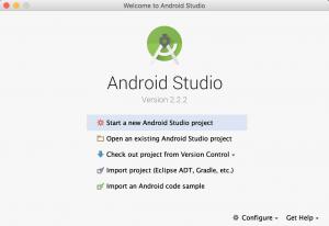 android studio giriş ekranı