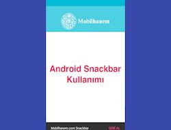 Android Material Design Snackbar Kullanımı