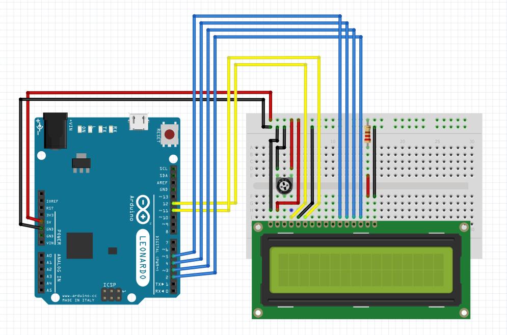 Arduino - LCD devre şeması