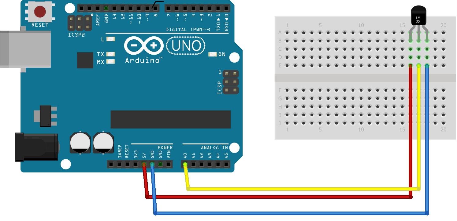 Arduino Sıcaklık Sensörü Devre Şeması