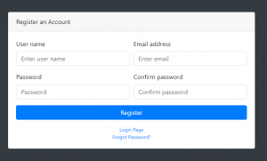 Form Validations Form tasarımı