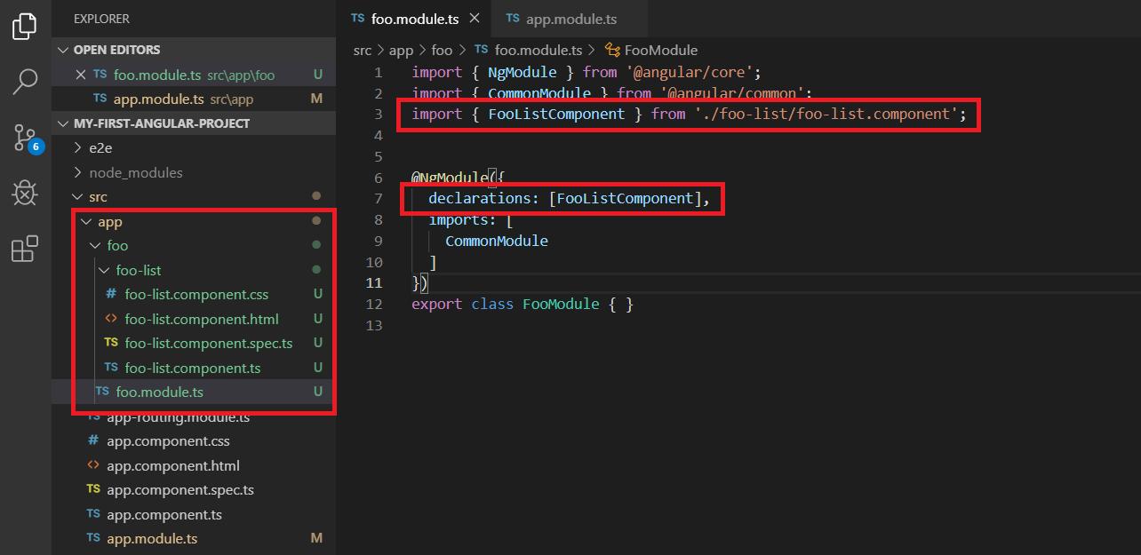 angular module import etme