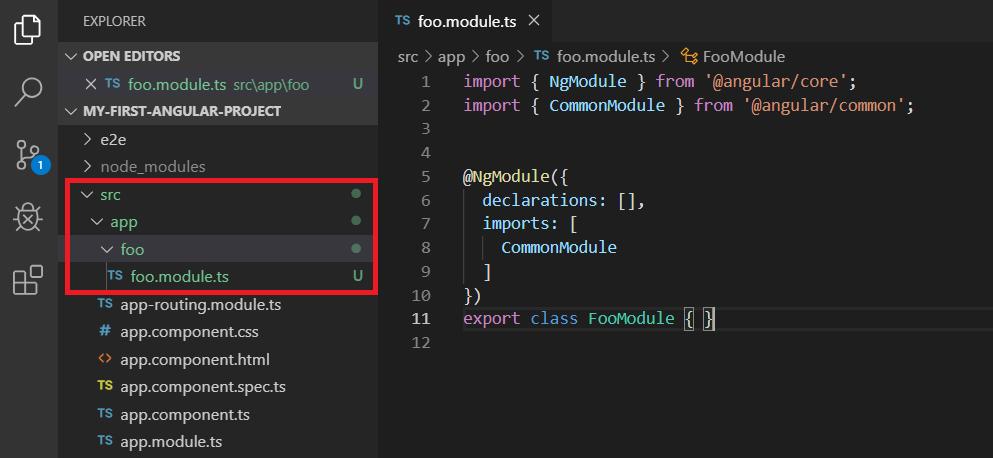 angular module generate