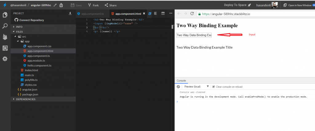 angular two way data binding figure