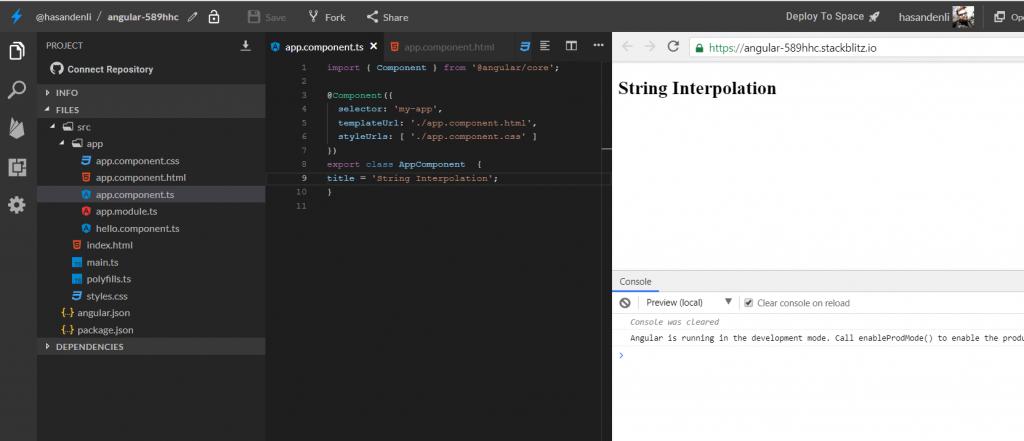 angular string interpolation figure